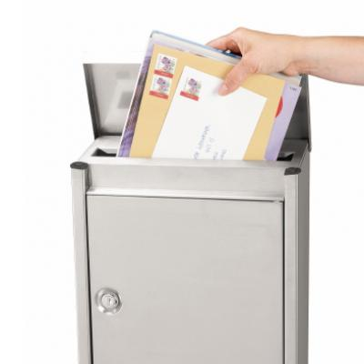 Brabantia B110 - Hand posting mails through the top aperture
