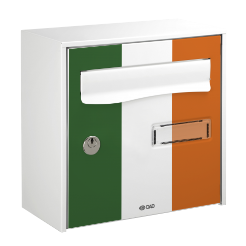 Ireland flag printed mailbox