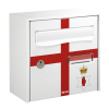Northen Ireland flag printed mailbox
