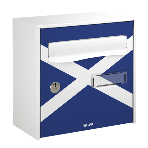 Scotland flag printed mailbox