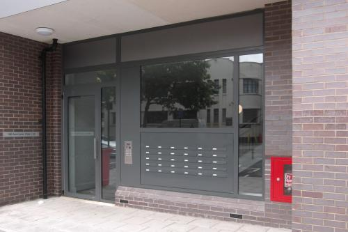 Acre Lane | Multiple letterboxes | Door entry system | Side panel mailboxes