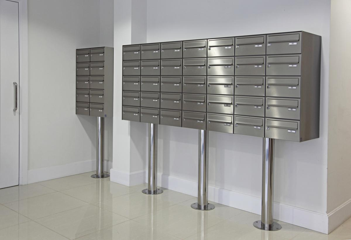 London | Kingston Riverside | Stainless steel mailboxes | 02