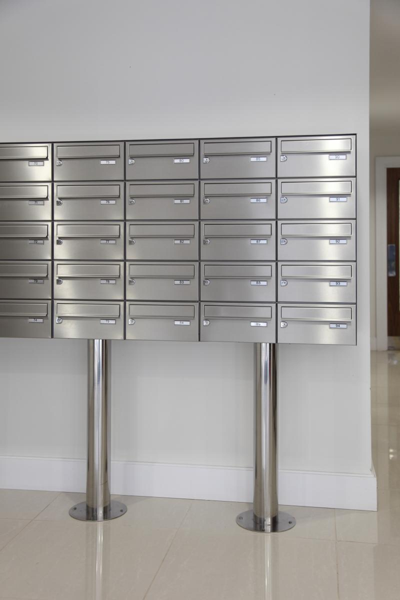 London | Kingston Riverside | Stainless steel mailboxes | 03