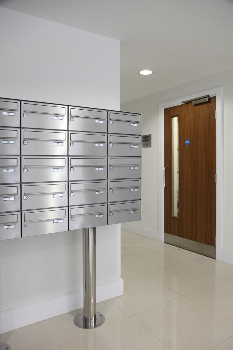 London | Kingston Riverside | Stainless steel mailboxes | 05