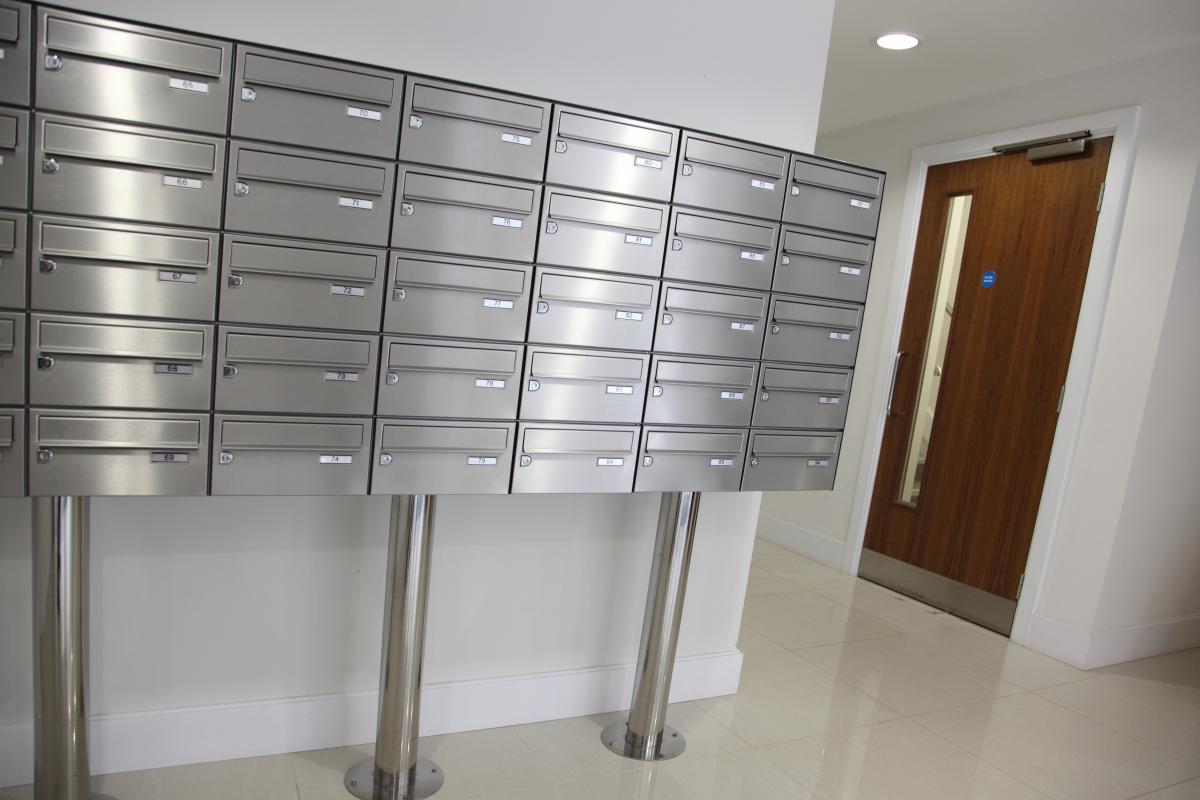 London | Kingston Riverside | Stainless steel mailboxes | 06