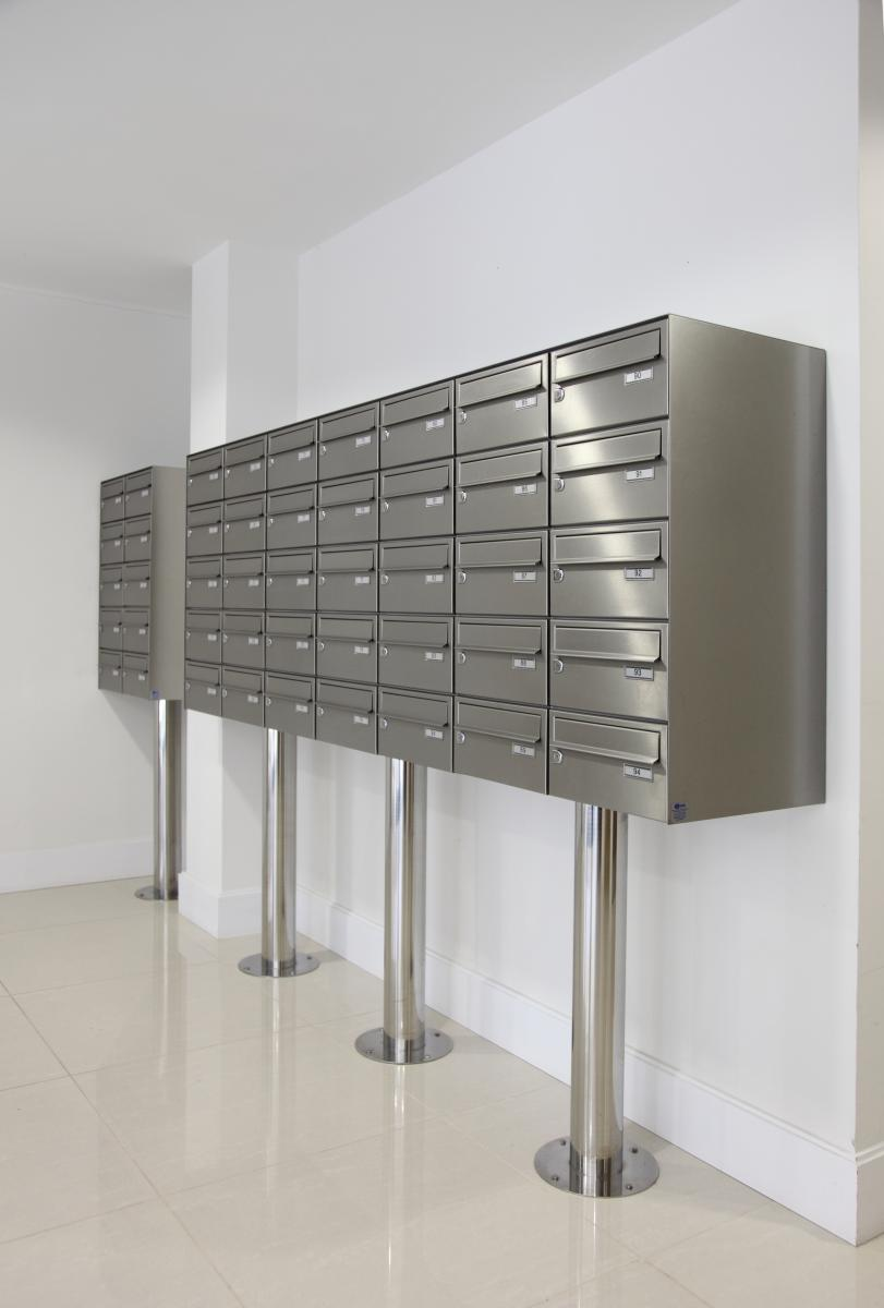 London | Kingston Riverside | Stainless steel mailboxes | 08