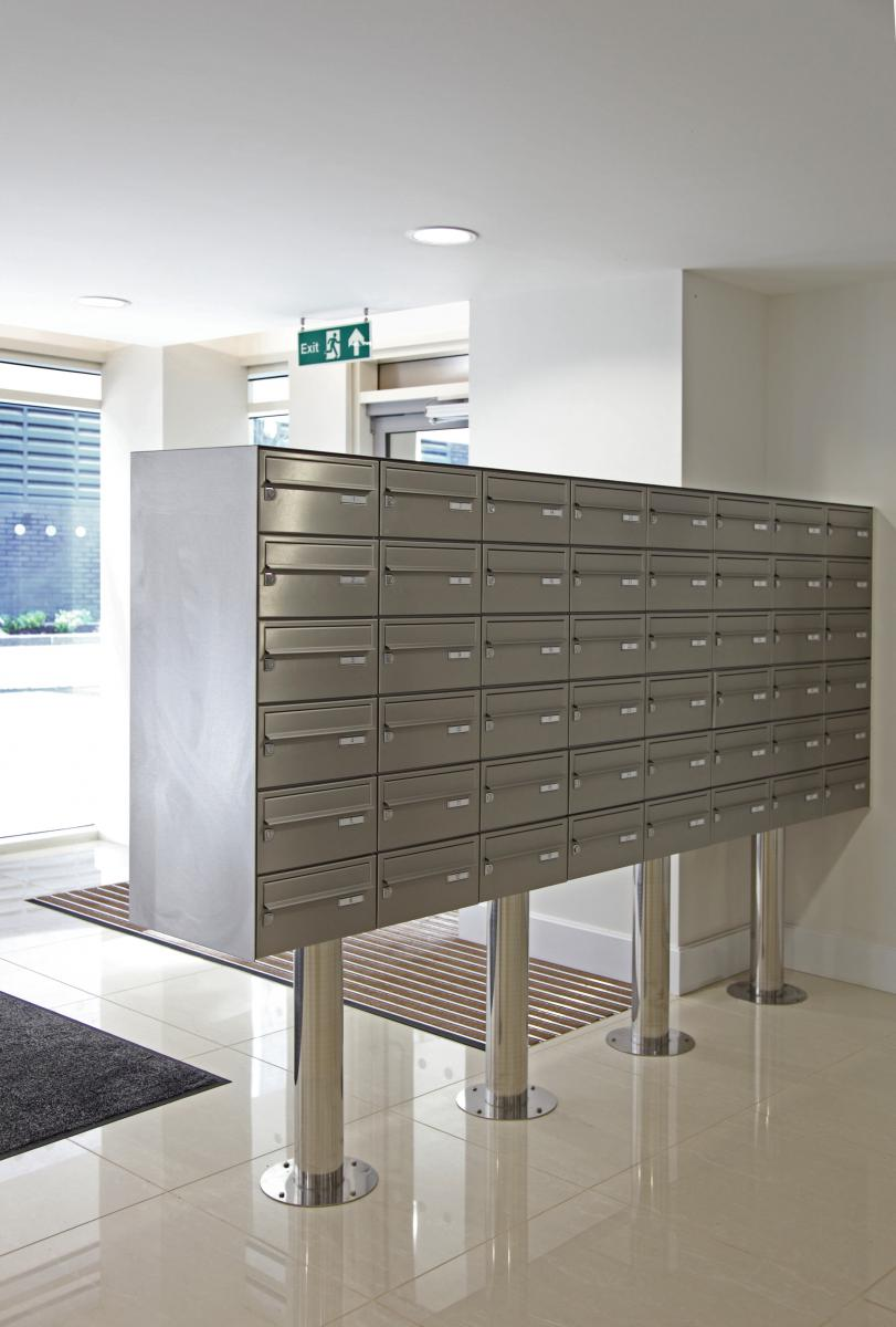 London | Kingston Riverside | Stainless steel mailboxes | 09
