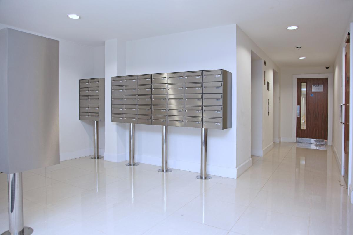 London | Kingston Riverside | Stainless steel mailboxes | 11