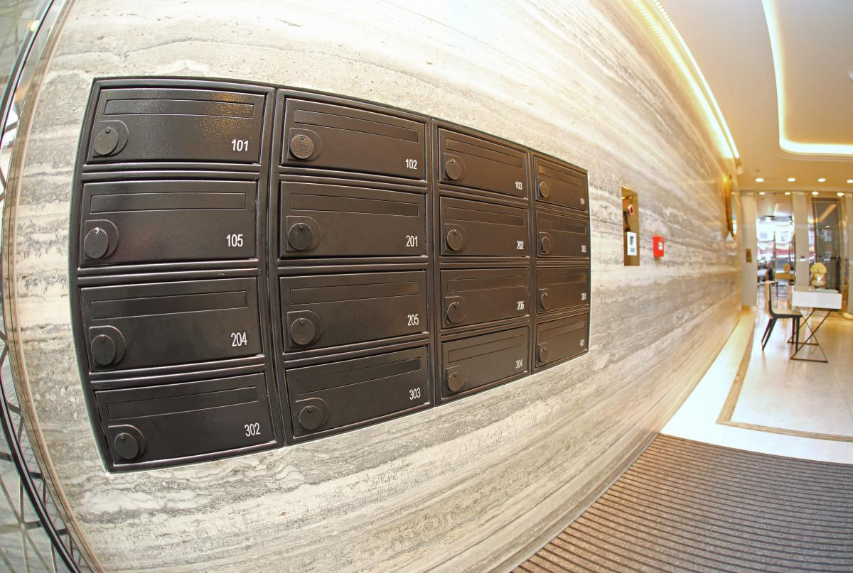London | Queens building | Fire-rated mailboxes | 04