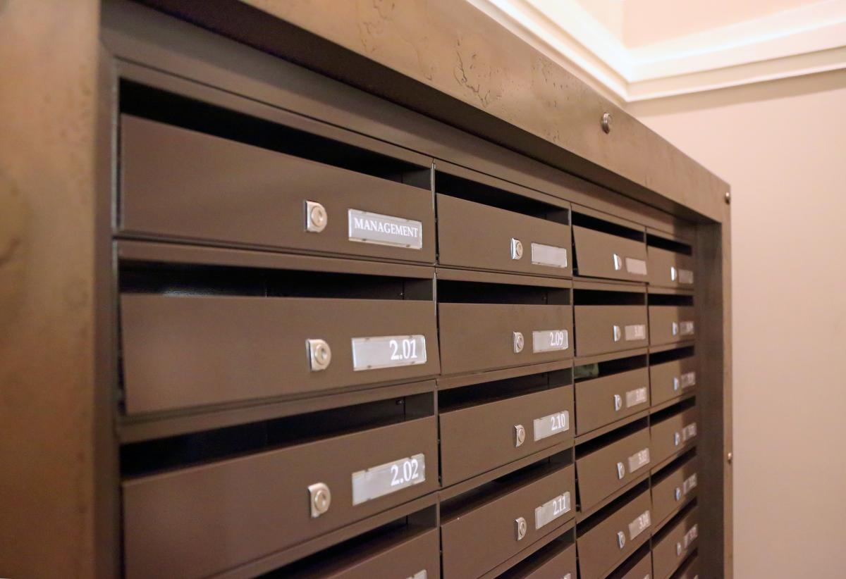 London | St Pancras | Bespoke mailboxes brass surround | 03