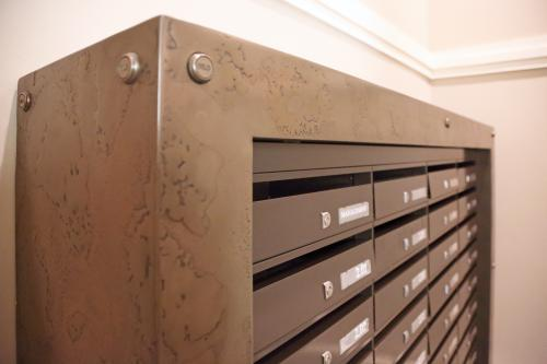 London | St Pancras | Bespoke mailboxes brass surround | 06