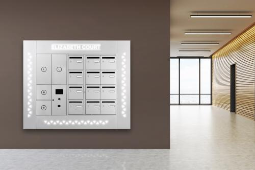 LED surround for bank of mailboxes