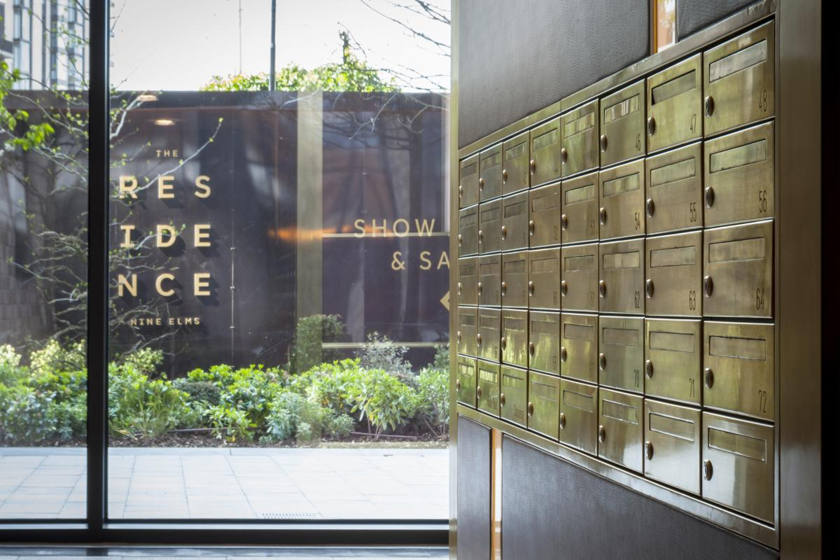 The residence | Luxurious bank of mailboxes SBD compliant