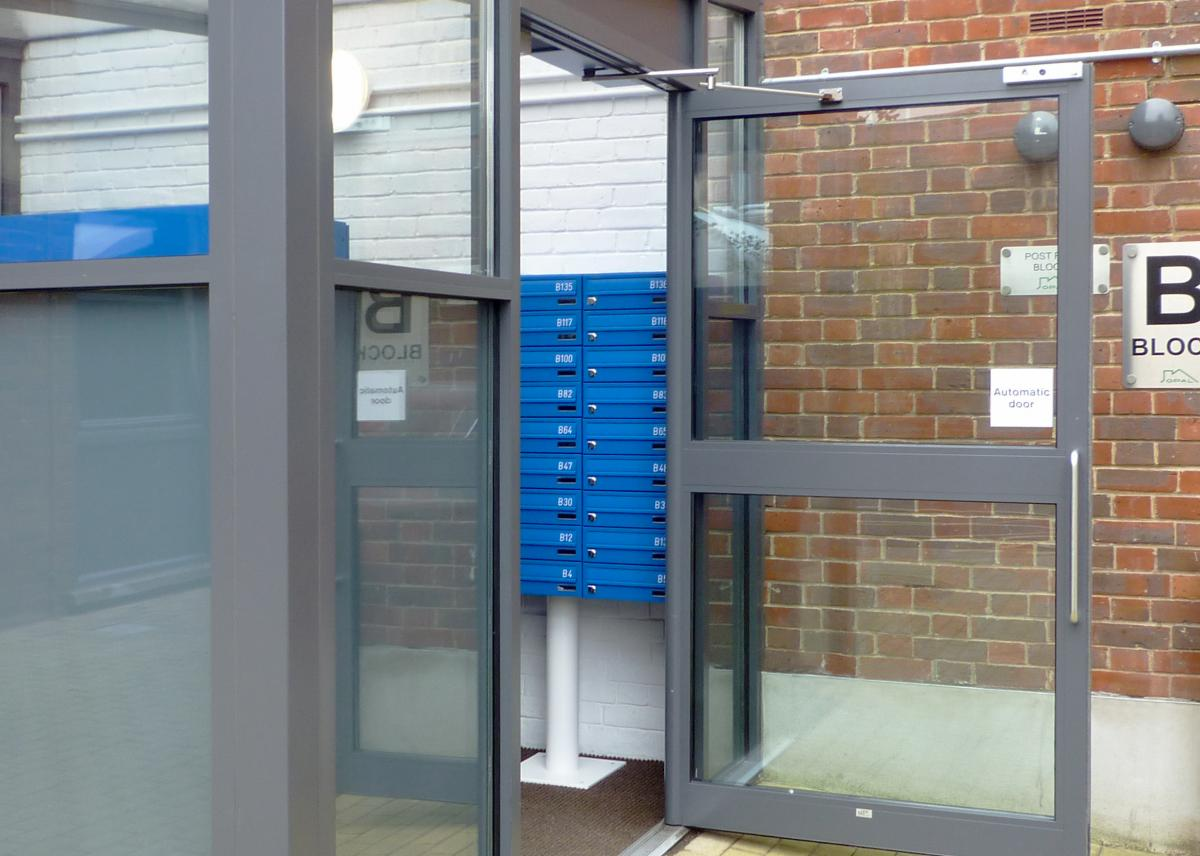 Freestanding multiple mailboxes | Student accommodations | Tuffnell Park