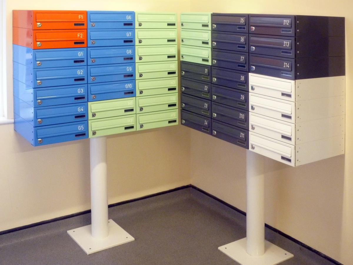 Security mailboxes for student accommodations of Tuffnell Park