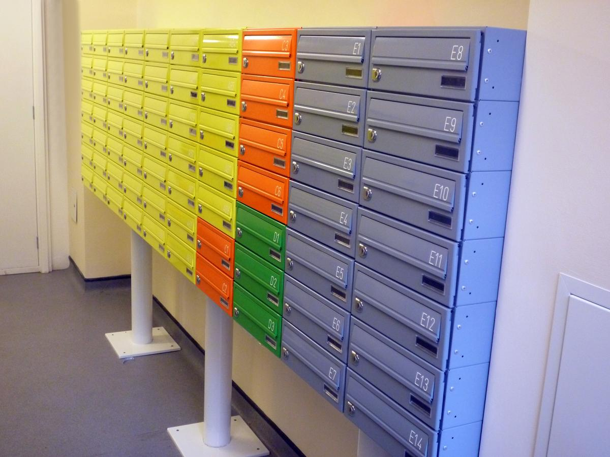 Freestanding student living letterboxes | Tuffnell Park