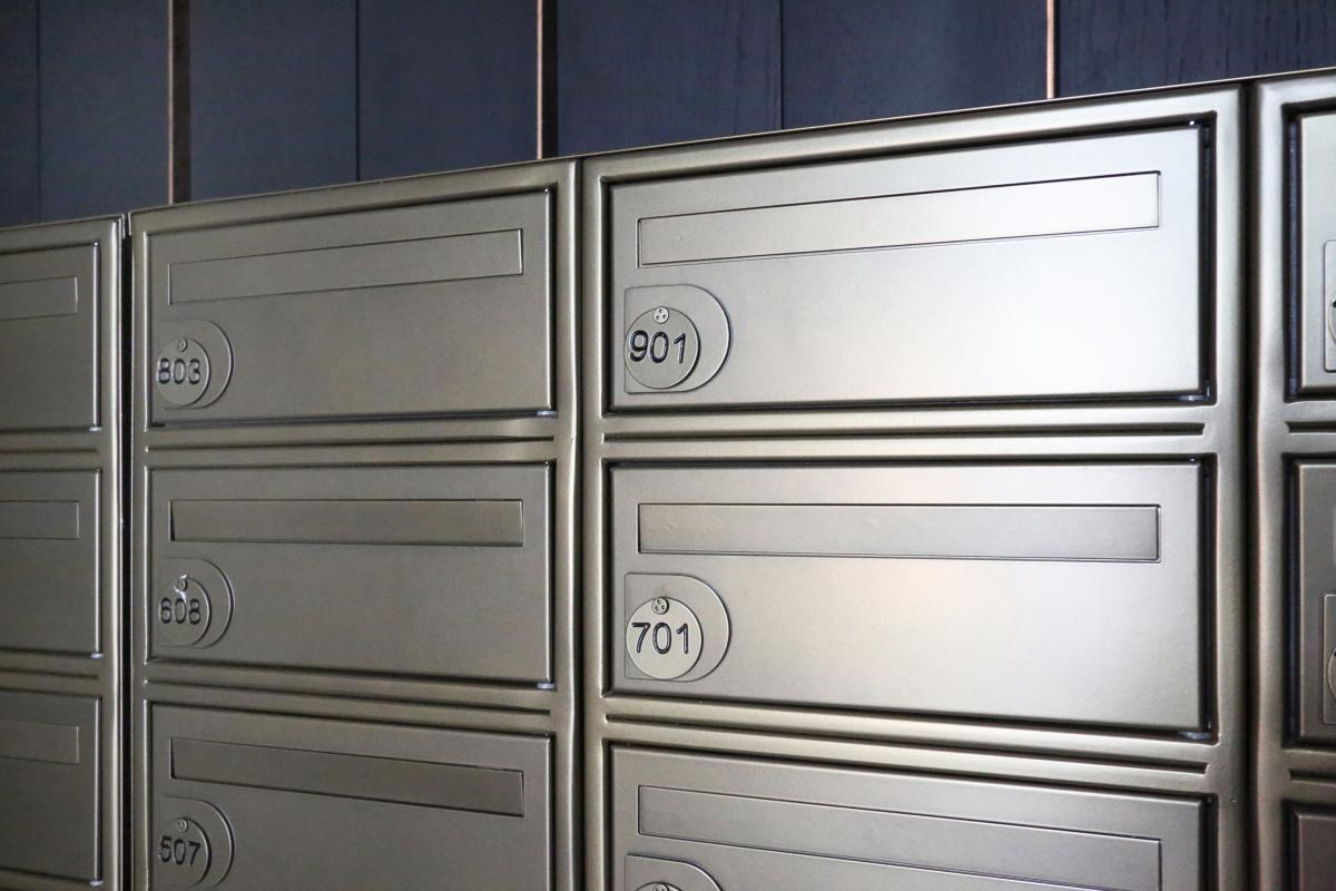 Victoria Street | Multiple letterboxes bronze finish