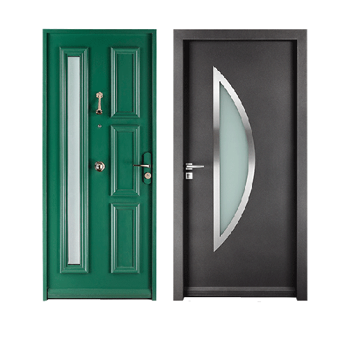 Domestic security entrance doors
