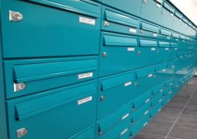 Multiple freestanding postboxes | Liverpool University | Vine Court