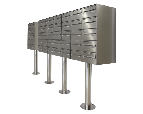 Stainless steel mailbox finish