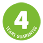 4 years guarantee logo