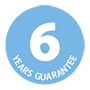6 years guarantee logo