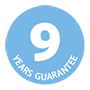 9 years guarantee icon